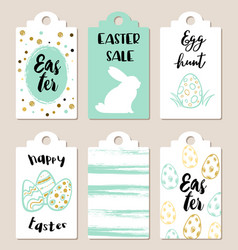 Easter tags for holiday sale vector
