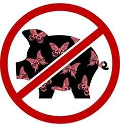 no glamour pigs vector image vector image