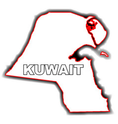 outline map of kuwait vector image vector image