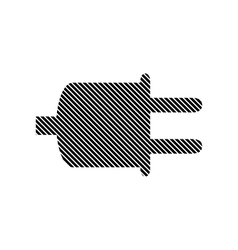Power cord sign vector
