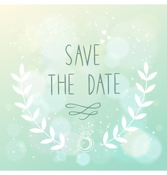 Save the date elegant wedding card vector image vector image