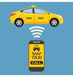 Taxi mobile app concept vector image