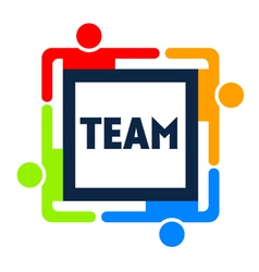 Team Square Logo vector image vector image