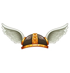 A vikings headgear vector image