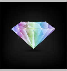colorful shiny diamond vector image
