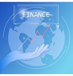 Financial business poster vector image
