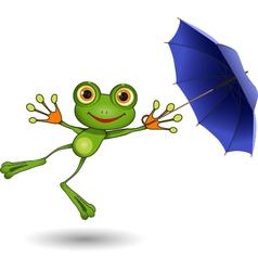 Frog with Umbrella vector image vector image