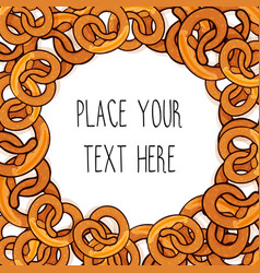 template with many pretzels vector image vector image