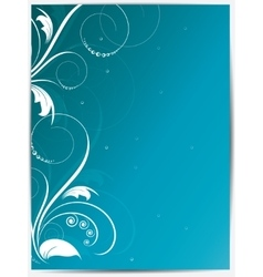 Abstract floral background for design with swirls vector image