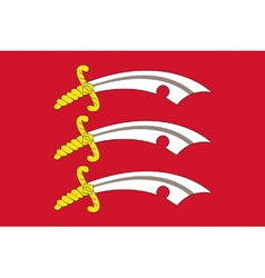 Flag of Essex vector image vector image