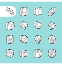 3D Line Icons vector image
