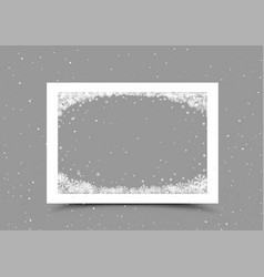 a4 paper frame with snow in corner vector image