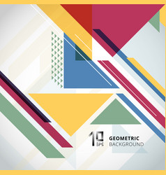 abstract colorful geometric with triangles vector image