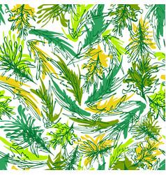 abstract colorful seaweed underwater vegetation vector image
