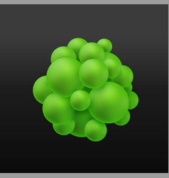 abstract molecules structure with particles vector image