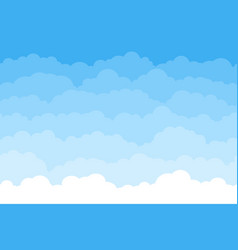 abstract seamless cartoon background with blue sky vector image