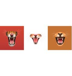 Animals mouth design concept vector