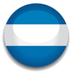 Argentina flag in a button vector