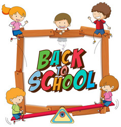 back to school sign theme vector image
