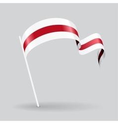 Belarus wavy flag vector