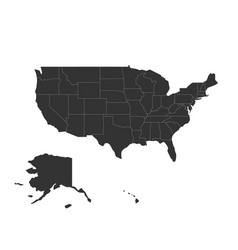 Blank map of united states of america - usa vector