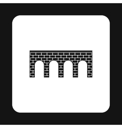 Brick bridge icon simple style vector