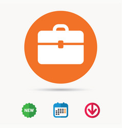 Briefcase icon diplomat handbag sign vector