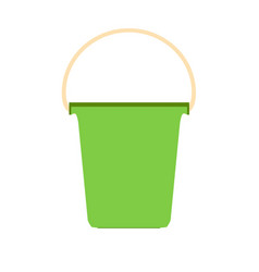 bucket plastic white paint container isolated vector image
