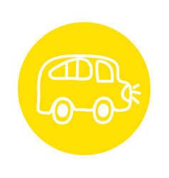 bus school drawing isolated icon vector image