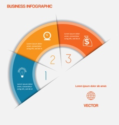 Business infographic template three positions vector image