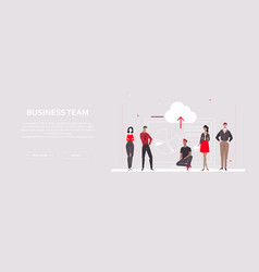 business team - flat design style colorful banner vector image