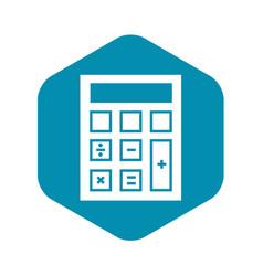 Calculator icon simple style vector