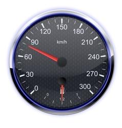 Car speedometer in kilometers vector