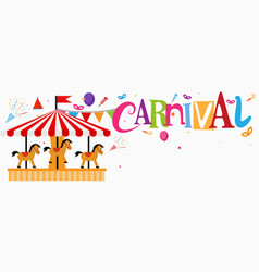 colorful funfair and carnival background vector image
