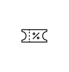 Coupon voucher icon vector