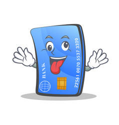 Crazy credit card character cartoon vector