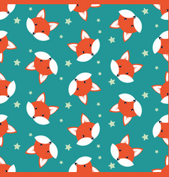 Cute cartoon foxes vector