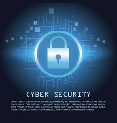 Cyber security banner concept vector