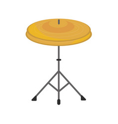 Cymbals in tripod percussion musical instrument vector