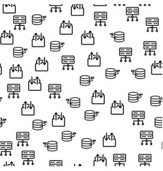 data center security tech server seamless pattern vector image