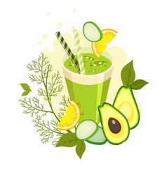 detox health cocktail vector image