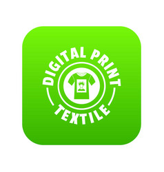 Digital print textile icon green vector