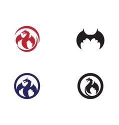 Dragon icon vector