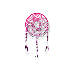 dream catcher sign detachable paper with vector image