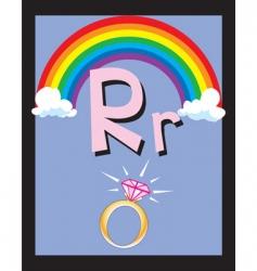 flash card r vector image