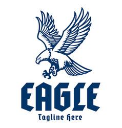 Flying eagle mascot logo vector