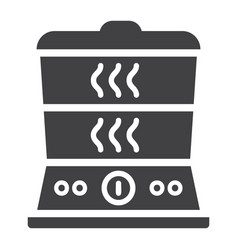 food steamer solid icon kitchen and appliance vector image