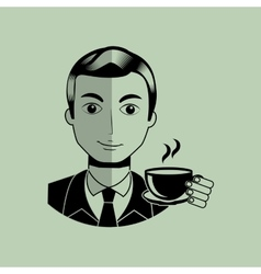Gentleman avatar design vector