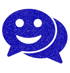 Happy chat icon grunge watermark vector