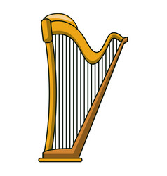 Harp instrument cartoon vector